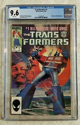 The Transformers #1 (Sep 1984, Marvel) CGC 9.6, first print!