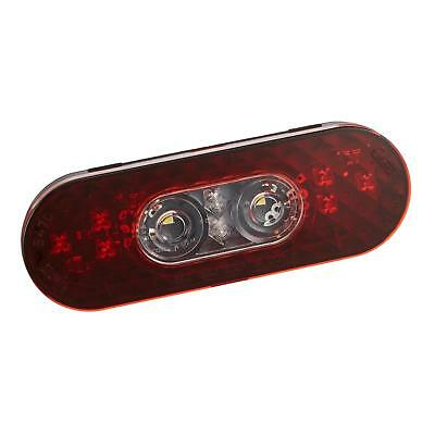 """Grote 54702 - Red 6"""" Oval LED Stop Tail Turn Lights with Integrated Back-up"""