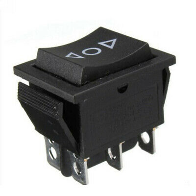 Black 3-Position On-off-On Boat Rocker Switch 6-Pin DPDT 10A 250V Waterproof
