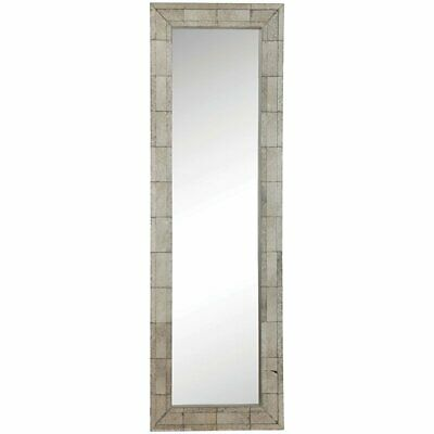 Bowery Hill Floor Mirror in Antique Silver