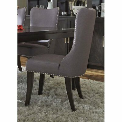 Bowery Hill Upholstered Dining Side Chair in Gray
