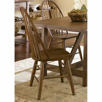 Bowery Hill Windsor Back Dining Side Chair in Oak