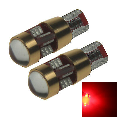 2x Red Car T10 W5W Tail Bulb Clearance Lamp Canbus Error Free 27 3014 SMD LED Z2