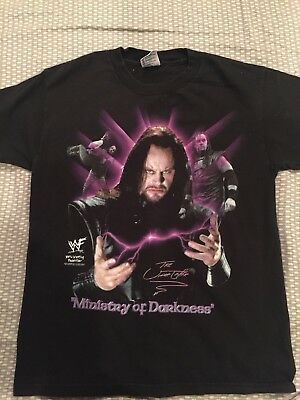 Vintage 90s WWF Ministry of Darkness Undertaker t shirt wwe Youth Large