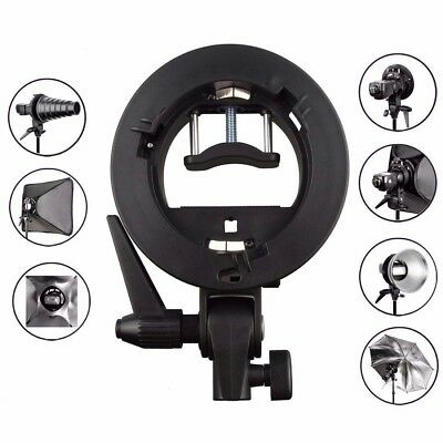 Godox S-Type Bracket Bowens Mount for Speedlite Flash Snoot Softbox HoneyComb UK
