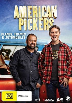 American Pickers - Planes, Frames And Automobiles (DVD, 2017, 3-Disc Set)