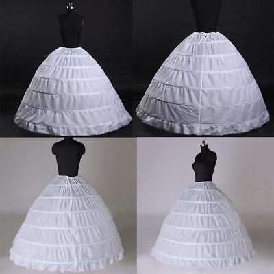3 or 6 Hoop Crinoline Wedding Ball Gown Bridal Dress Petticoat Skirt Underskirt