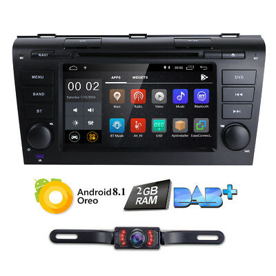 Android 8.1 Head Unit Stereo GPS DVD for Mazda 3 2004 2005 2006 2007 2008 2009 M