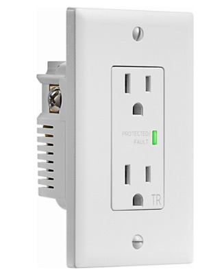 Insignia™ - 2-Outlet In-Wall Surge Protector - Rated to 1080 joules