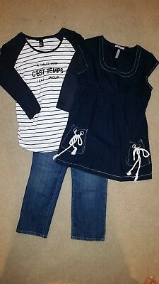 Spring/Summer Maternity Old Navy Capri  size 2,  Shirt XS, H&M Shirt size S