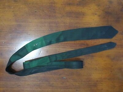Funky green and black super-skinny vintage tie