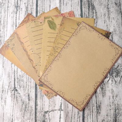 8 Sheets Europe Type Vintage Letter Paper Pastoral Style Writing Letter Pad