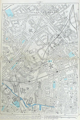 "LONDON, 1900 - CAMDEN, HOLLOWAY, BARNSBURY - 9"" / mile  Original Antique Map"