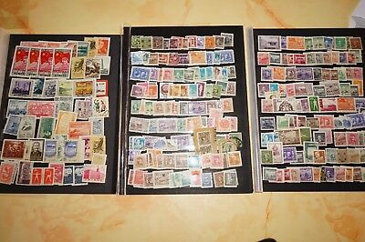 Posten  Stecktafeln mit Briefmarken   China +