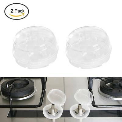 2PCS Stove Knob Safety Covers Child Proof Switch Protectors Kitchen Safety Lock