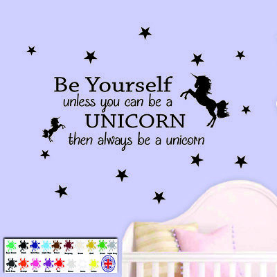 UNICORN WALL STICKER Quote - Children\'s Bedroom Wall Art ...