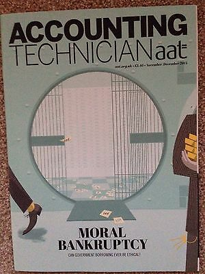 AAT Accounting Technician Magazine Nov/Dec 14 Moral Bankruptcy Issue