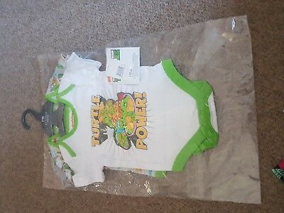 Mothercare Teenage Mutant Ninja Turtles Baby Boys Vests Hero Bright 6-9 months
