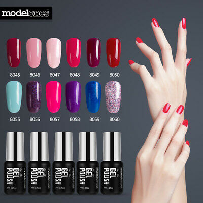 Modelones Soak Off Unghie Uv Smalto Gel Nail Polish Manicure 120 Colori 7Ml