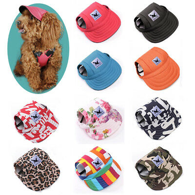 Red Baseball Cap Sunbonnet Strap Neck Dog Summer Pet Canvas Dogs Visor Hat