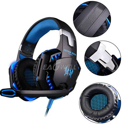 3.5mm USB Gaming Headset LED Headphone Stereo Surround W/Mic for PS3 PS4 Xbox PC