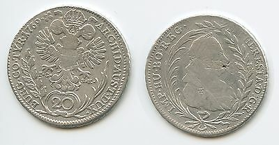 G5973 - RDR Österreich 20 Kreuzer 1769 IC-SK Silber Maria Theresia 1740-1780