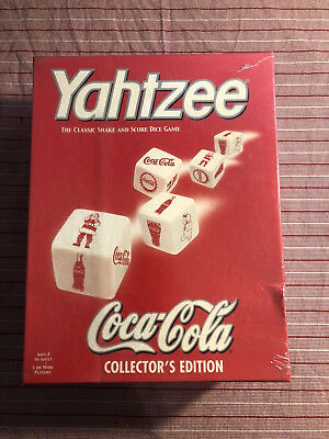 Coca Cola Yahtzee game Collector's Edition NIB, Factory sealed