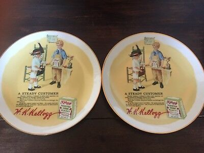 """Vintage Kellogg's """"A Steady Customer"""" Plate - 2 For The Price Of One!"""