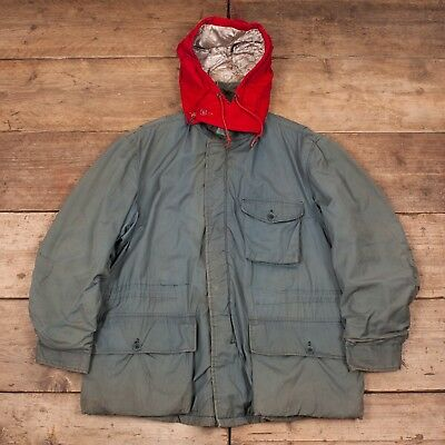"""Mens Vintage Insulair Warmster 1950s Green Padded Jacket Coat Large 42"""" XR 8404"""