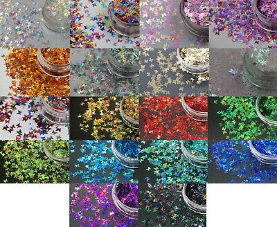 Beautiful Butterflies Butterfly 3mm NAIL ART GLITTER SHAPE SEQUIN 2g