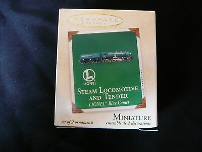 Hallmark Lionel Steam Locomotive and Tender Blue Comet 2003 Miniature Ornament