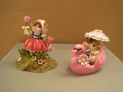 Wee Forest Folk M-566 A Tulip for You and M475a Dreamboat - Both Retired