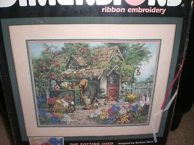 Dimensions Ribbon Embroidery Kit  Potting Shed New