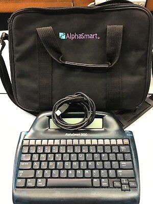 Alphasmart 3000 Portable Laptop Keyboard Word Processor with USB and case