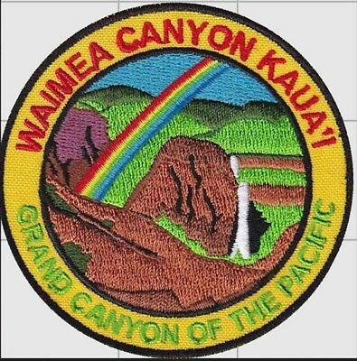Travel Patch Badge Waimea Canyon Kauai Hawaii Hawaiian