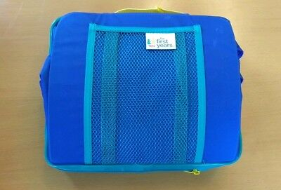Blue Travel/Portable Booster Seat Foldaway High Chair -  5 Point Harness