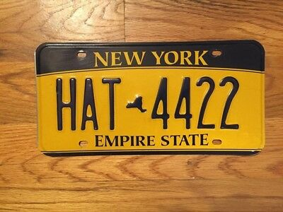 New York Empire State License Plate /tag ~Hat 4422~