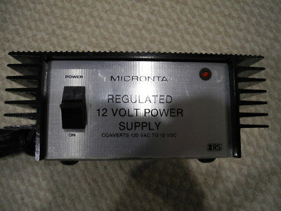 Micronta regulated 12 volt DC power supply - tested