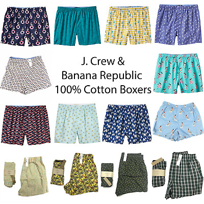 NEW J.Crew & Banana Republic Men's Boxers Fun Prints ALL SIZES, 100% Cotton