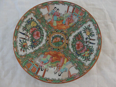 2 Hand  Painted Famille Rose Made In China 9 In And 10 1/4 In Plates