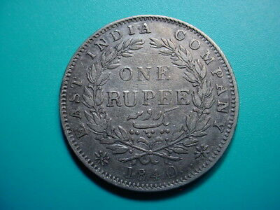 British-India~ Silver 1840 1-Rupee in Very Nice Condition!