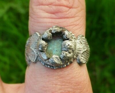 Ancient Roman Massive Decorated Ring - Rare !