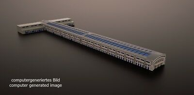 Cruise Ship Terminal Building Model 1/1250 scale