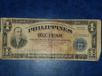 Philippines USA Territory 1944 Silver Peso. Victory over Japan #F12068467 WW II