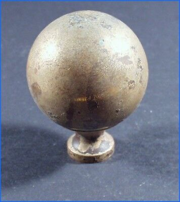 Vintage Brass Round Finial, Furniture, Clock, Mirror, Etc.
