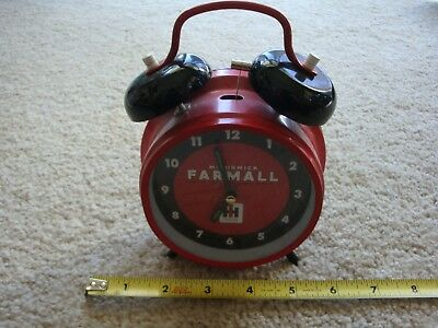 International Harvester McCormick Farmall vintage alarm clock. Works! Nice!