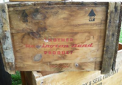 Vintage Wood Box  Another Remington Rand Product Typewriter Wooden Crate