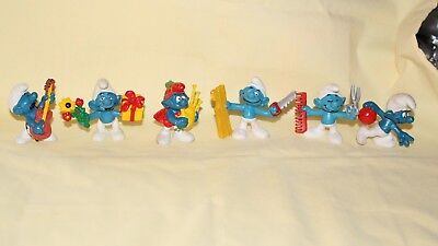 Vintage Smurfs, 6, West Germany Hong Kong Peyo Schleich 1977 1978