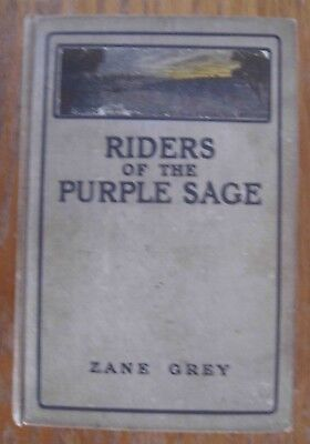 RIDERS OF THE PURPLE SAGE Vintage Book by Zane Grey 1912