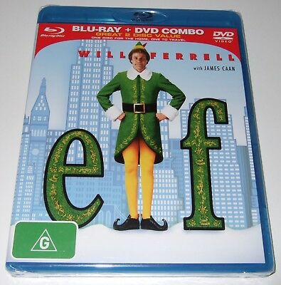 Elf (Blu-ray + DVD Combo, 2010, 2-Disc Set) Will Ferrell - new, sealed